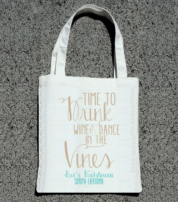 Time to Drink Wine Dance in the Vines Bachelorette by ilulily