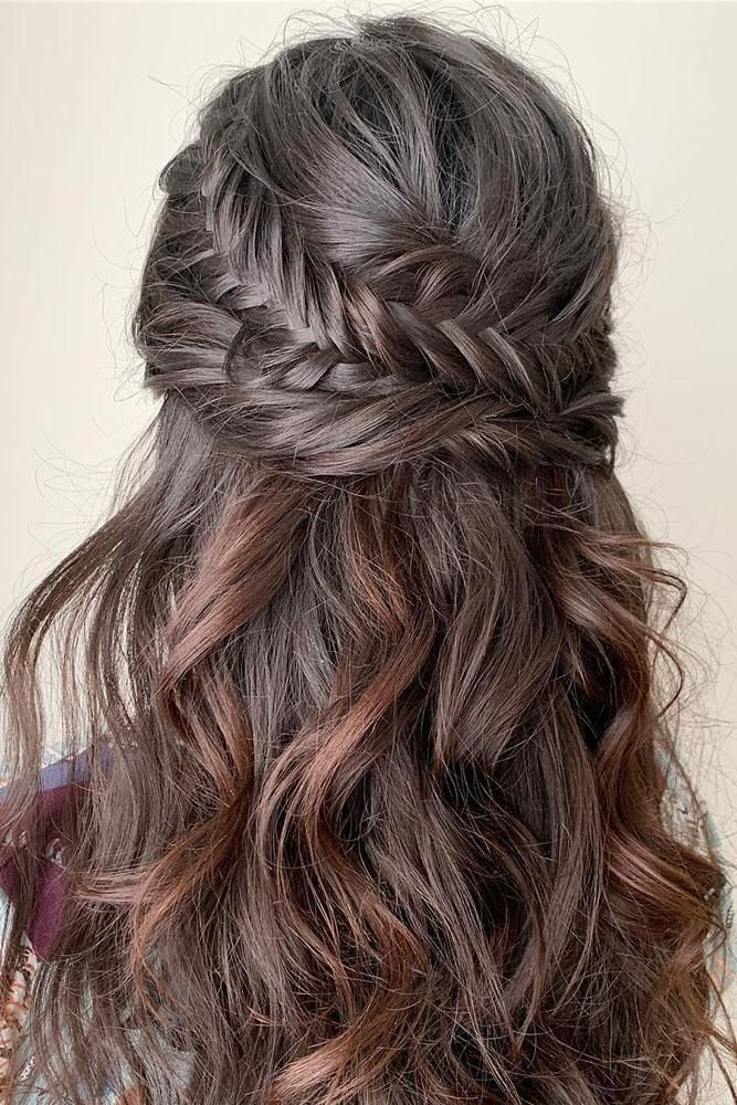 Wedding Guest Hairstyles 42 The Most Beautiful Ideas Wedding Forward Wedding Hair Down Long Hair Styles Hair Styles