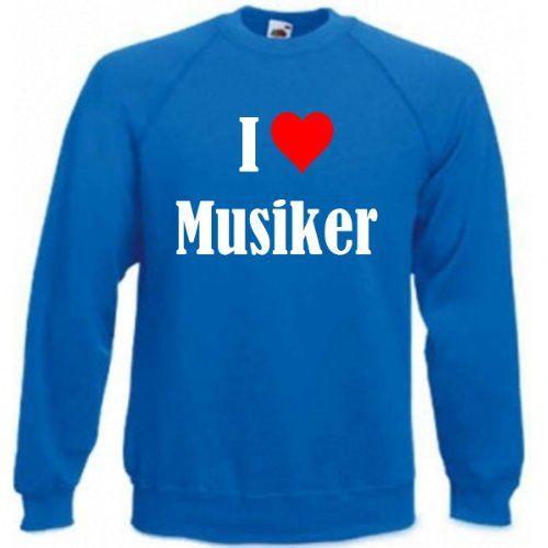 Reifen-Markt Sweatshirt I Love Musiker Größe 2XL Farbe Blau Druck Weiss   #her… – amazonmode