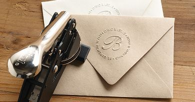 Return Address Embosser | Letterpress stamp embosser - Custom Return Address (All) - Paper Source