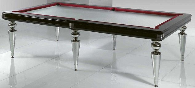 Top glass Pool Table, UK through Chelsea interior design showroom Anna Casa.
