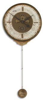 Uttermost Leonardo Chronograph Cream Wall Clock