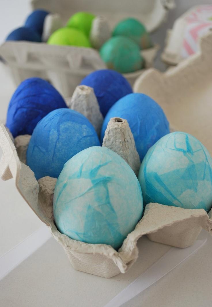 Seidenpapier-Eier