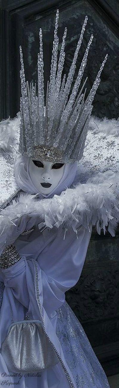 Reveler at Venice Carnival. Venice, ITALY