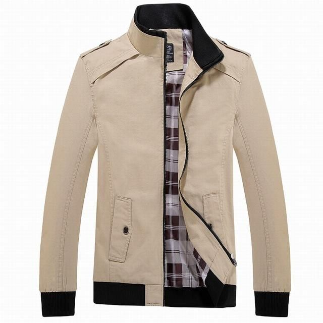 SportsX Womens Mao Collar Slim Fit Jacket Coat Fashion Zip Pure Color Outwear