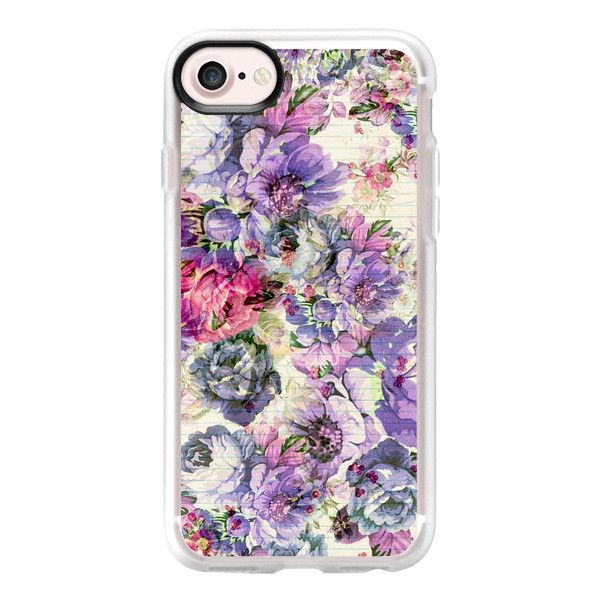 Vintage bohemian country pink lavender floral - iPhone 7 Case And... ($40) ❤ liked on Polyvore featuring accessories, tech accessories, iphone case, phone cases, vintage iphone case, apple iphone case, clear floral iphone case, iphone cases and pink iphone case