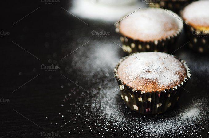muffins in powdered sugar by Mellisandra on @creativemarket
