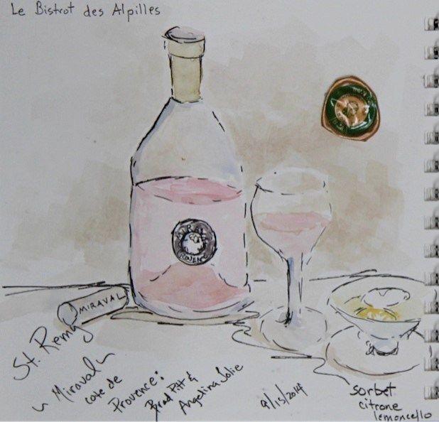 Jolie-Pitt Miraval wine