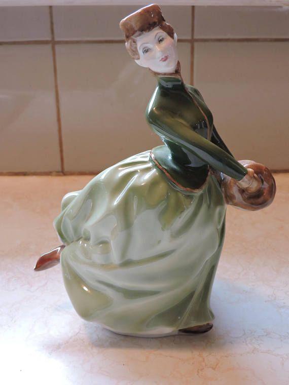 Grace Skater w/ Muff Royal Doulton Classic Lady Porcelain Doll