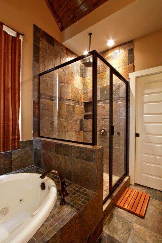 Slate Tile Bathroom Ideas Lovely Breathtaking Slate Tile Decorating Ideas For Bathroom Craft In 2020 Slate Bathroom Tile Small Master Bathroom Bathroom Interior Design