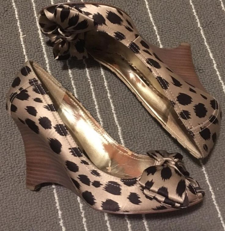 Guess By Marciano Leopard Wedges. Get the must-have wedges of this season! These Guess By Marciano Leopard Wedges are a top 10 member favorite on Tradesy. Save on yours before they're sold out!