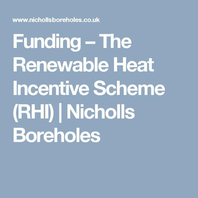 Funding – The Renewable Heat Incentive Scheme (RHI) | Nicholls Boreholes