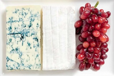 food flag, France, cheese, grapes