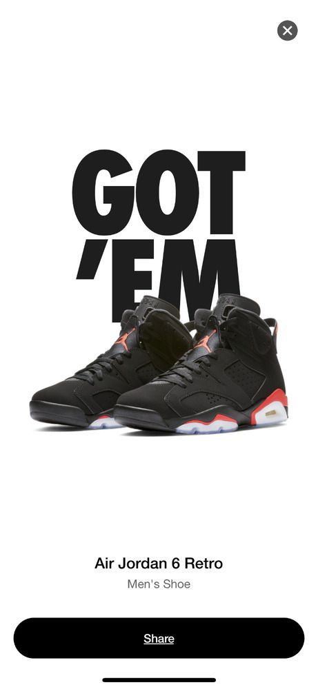 bb93944b972 eBay  Sponsored 2019 Nike AIR JORDAN 6 VI RETRO Black INFRARED 384664-060  SIZE