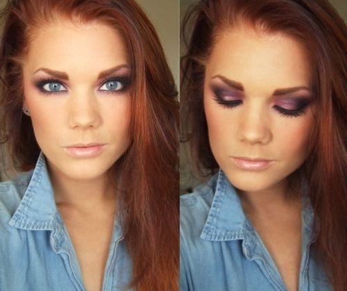 I love purples on the eyes