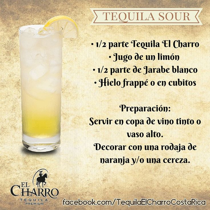 Tequila Sour, con Tequila El Charro! #Tequila #TequilaElCharro #Coctel #Cocktail #TequilaSour