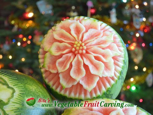 Best images about christmas fruit carvings on pinterest