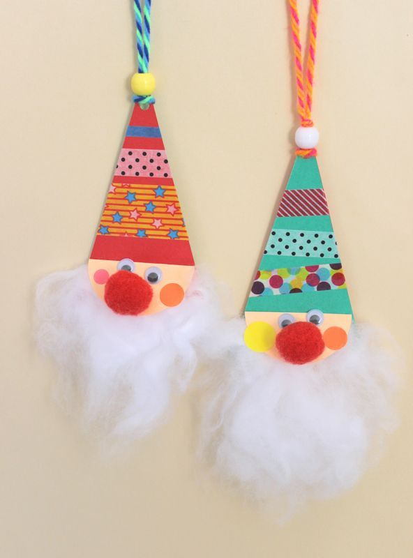 Handmade Santa ornaments