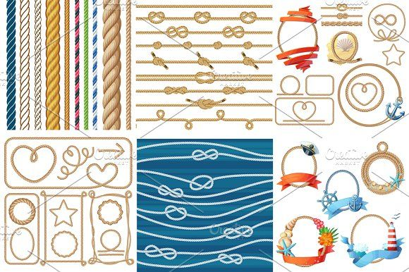 Vector various ropes set by Ann-zabella on @creativemarket