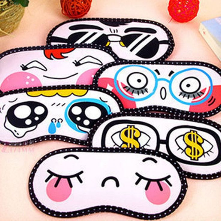 5PCS Sleeping Eye Mask Nap Travel Rest Patch Cute Eyeshade Eye Cover Cartoon Blindfold Gift For Women Girls Health Care