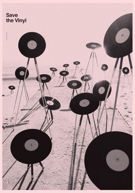 """Save The Vinyl"" graphic design by Toko (Sydney, Australia)"