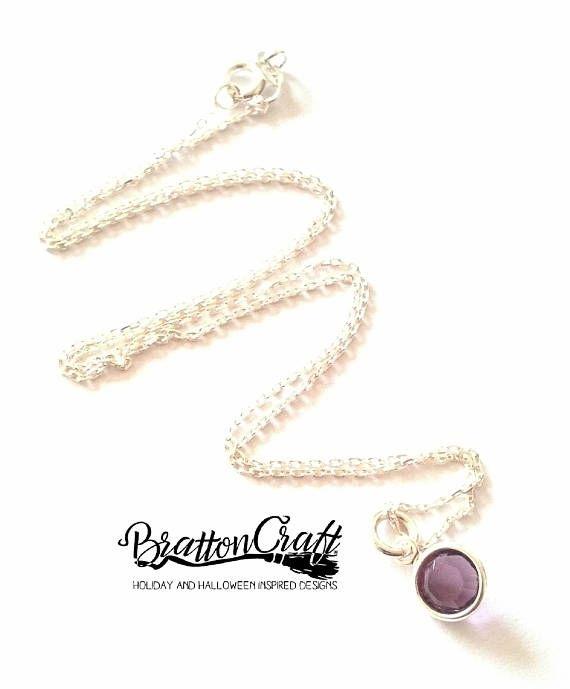 Amethyst Birthstone Necklace  February Birthstone Necklace