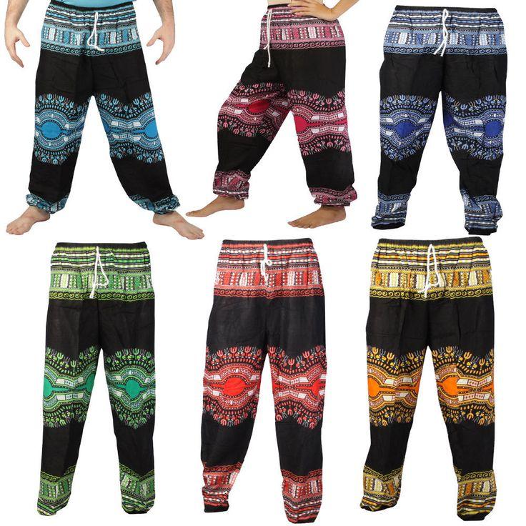 Unisex/Men/Women African Harem Pants/Trousers Yoga/Beach Size M,L,Xl Us