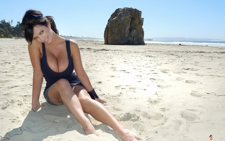 Denise Milani Girl Model on Beach Check more at http://hdwallpaperfx.com/denise-milani-girl-model-beach/