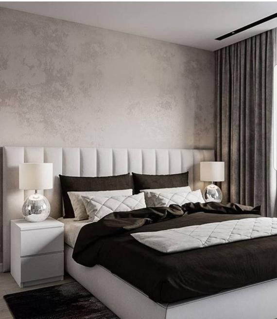 Upholstered Wall Panels Fully Customised Etsy Decor Chambre A
