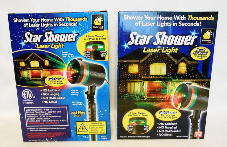 (2) Two Star Shower Laser Light Projectors As seen on TV NEW  Christmas lights #BulbHeadcom