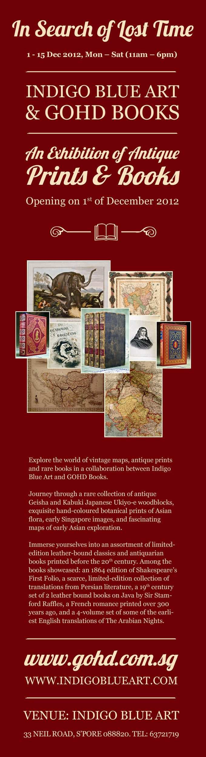In Search of Lost Time - An Exhibition of Antique Books & Prints - in collaboration with Indigo Blue Art - 2012