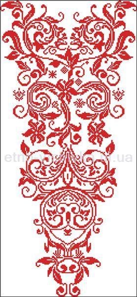 Сорочка женская. Схема вышивки крестиком. - купить в Львове | Етно-Вишивка
