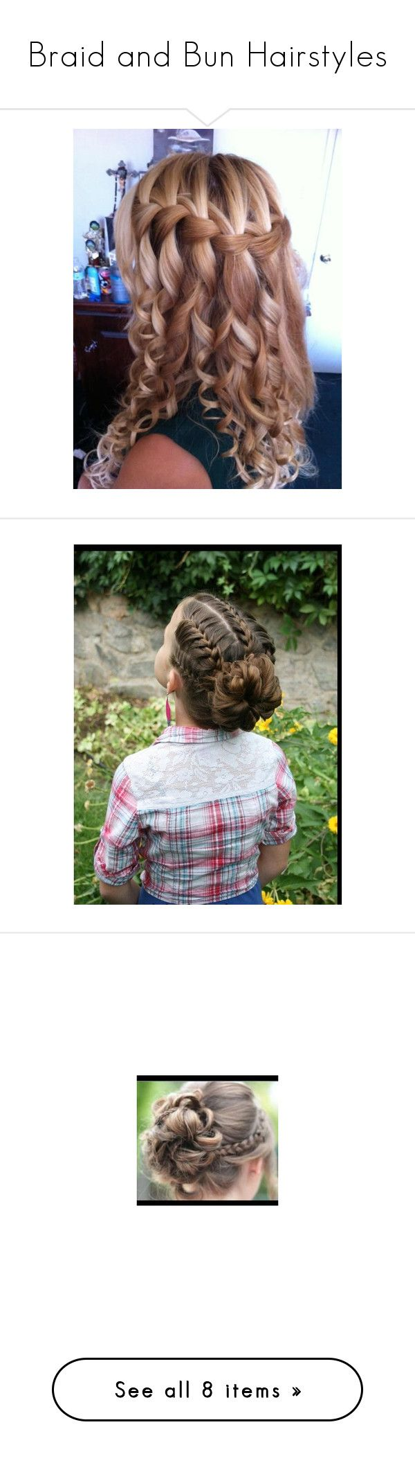 """""""Braid and Bun Hairstyles"""" by deeda-ferreira ❤ liked on Polyvore featuring hair, hairstyles, kids, hairstyles kids, beauty products, haircare, hair styling tools, cabelos, hair styles and pictures"""