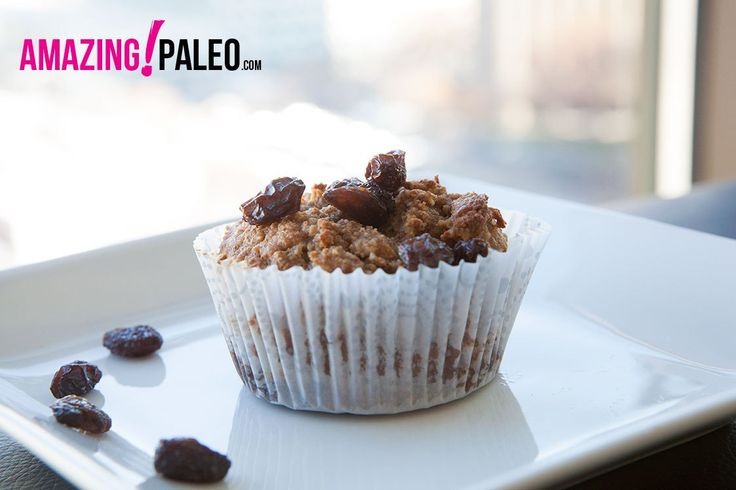 Paleo Apple Raisin Muffins
