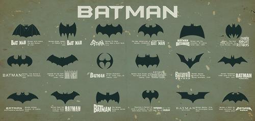 All the Batman Logos by Abhishek Chaudhary