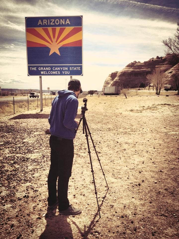 It's a beautiful day to film a little in Arizona.
