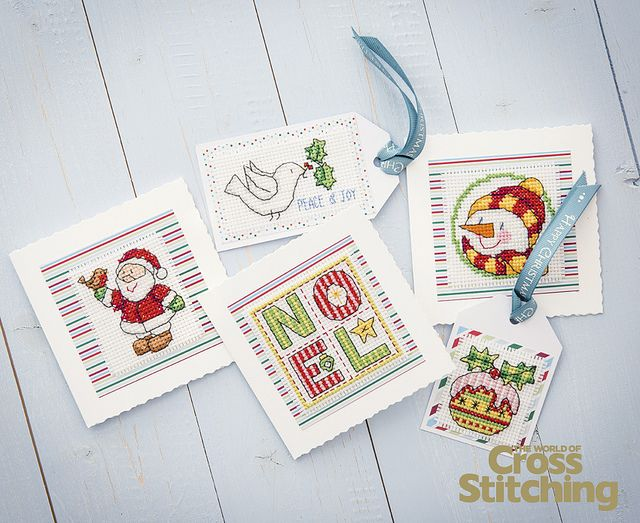 Cross stitch fab festive cards and gift tags galore with this versatile set of patterns in our latest collectable Design Library of no less than 50 fab motifs. An unmissable resource, in The World of Cross Stitching new issue, 210.