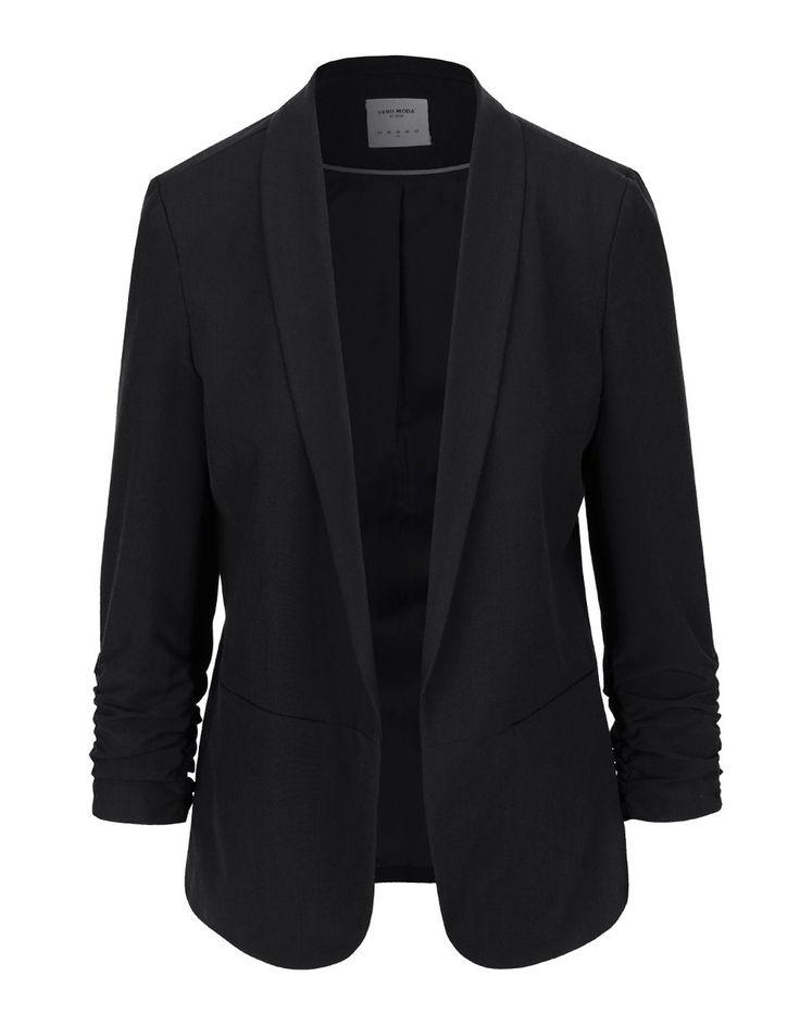 Vero Moda - Černý blejzr s nařasenými rukávy  Dana - 1
