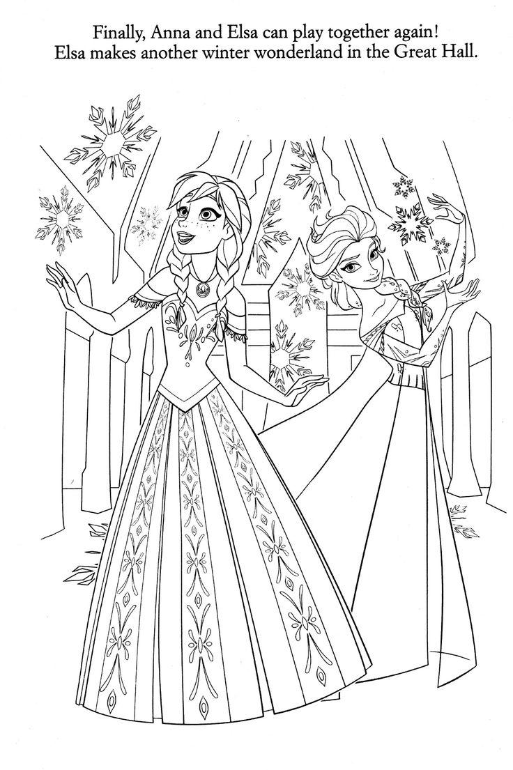 Frozen coloring pages elsa coronation - Disney Coloring Pages