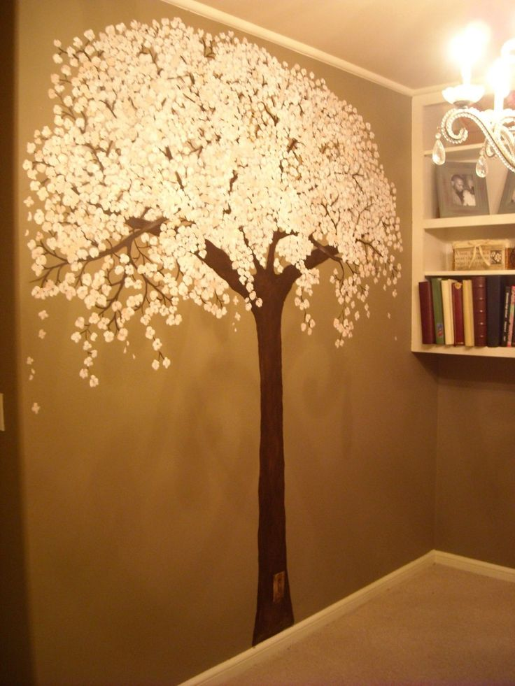 Best 20 tree wall painting ideas on pinterest family for Cherry tree mural