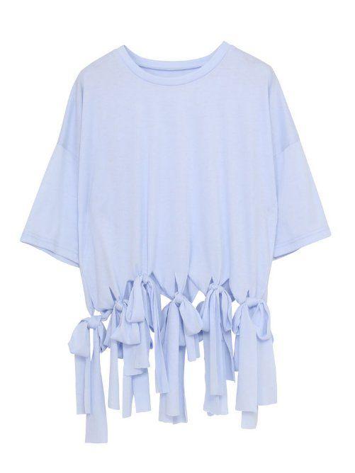 【ViVi 5月号掲載】フリンジリボンTシャツ*