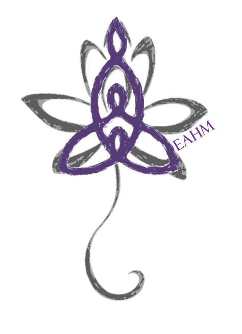 Not a literal depiction of what I want, but how I would like the mother-child symbol to form the petals of the lotus blossom.
