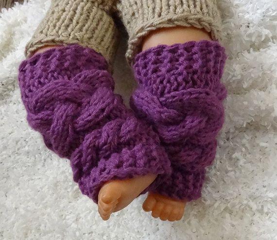 Knit Cable Leg Warmers Baby Girl Legwarmers Newborn Leg by Ifonka, $17.00