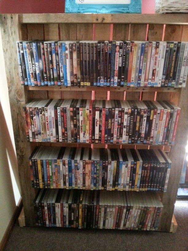 36 best pallet dvd racks images on Pinterest   Woodworking ...