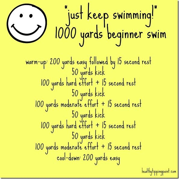 1000 yd swim workout - easy