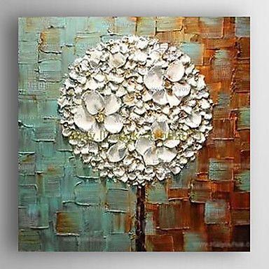 Handgeschilderde Bloemenmotief/BotanischModern Eén paneel Canvas…