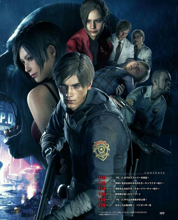Gaming Pinwire Resident Evil 2 Remake Capcom Games 2019 Lord Of