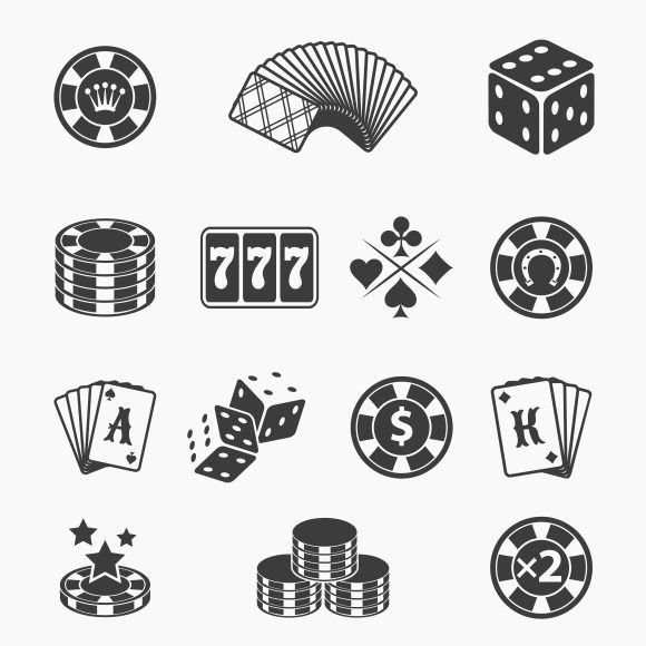 Gambling icons by Microvector on Creative Market