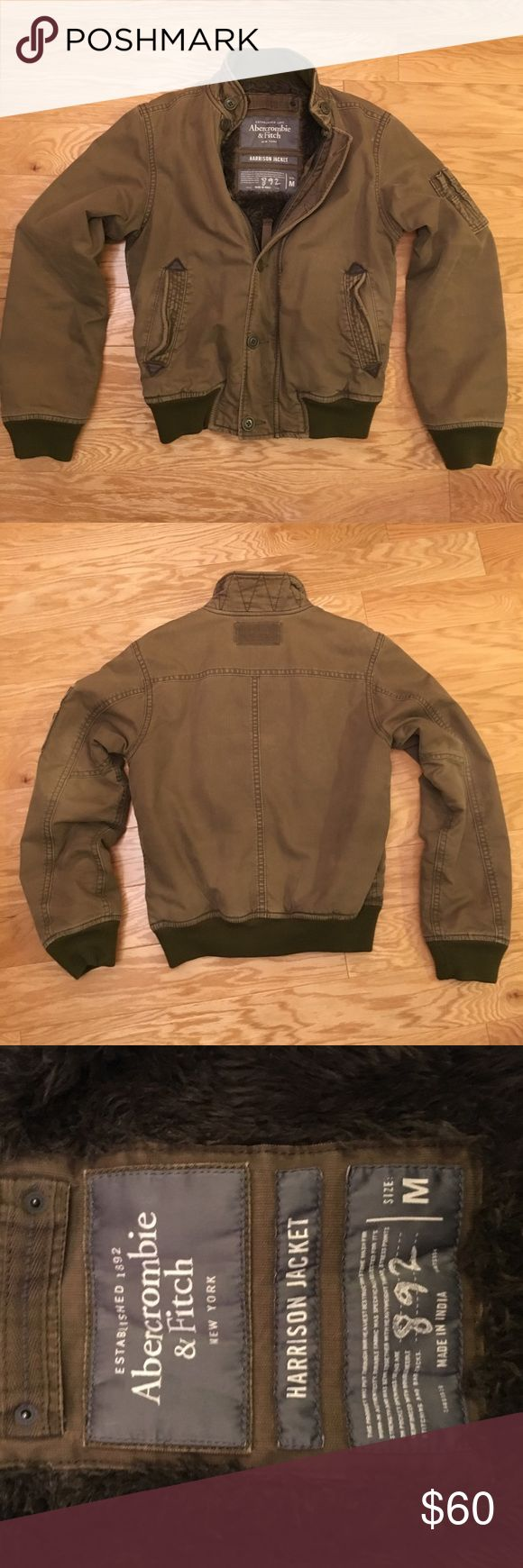 Abercrombie & Fitch Harrison Jacket Olive Abercrombie & Fitch Harrison winter jacket Abercrombie & Fitch Jackets & Coats