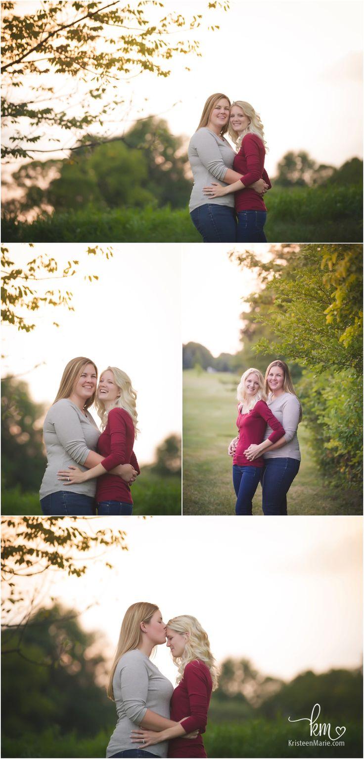 Lesbian couple celebrating engagement - lesbian engagement photography session